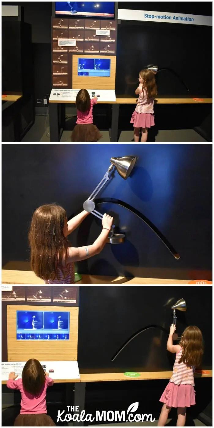 Sunshine creates a stop-motion animation of the iconic Pixar lamp.