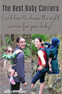 The Best Baby Carriers {and how to choose the right carrier for your baby}