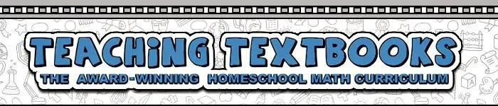 Teaching Textbooks - the award-winning homeschool math curriculum