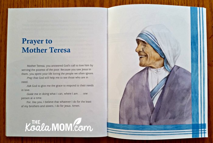Prayer to Mother Teresa, in Mother Teresa: The Story of the Saint of Calcutta by Marlyn Evangelina Monge, FSP