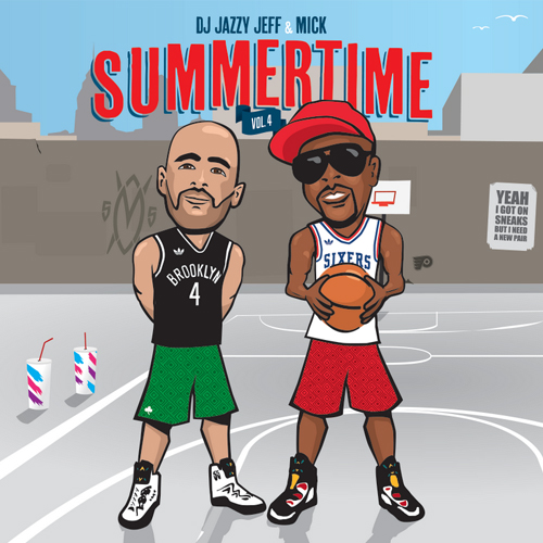 dj jazzy jeff mick boogie summertime vol 4 mixtape cover