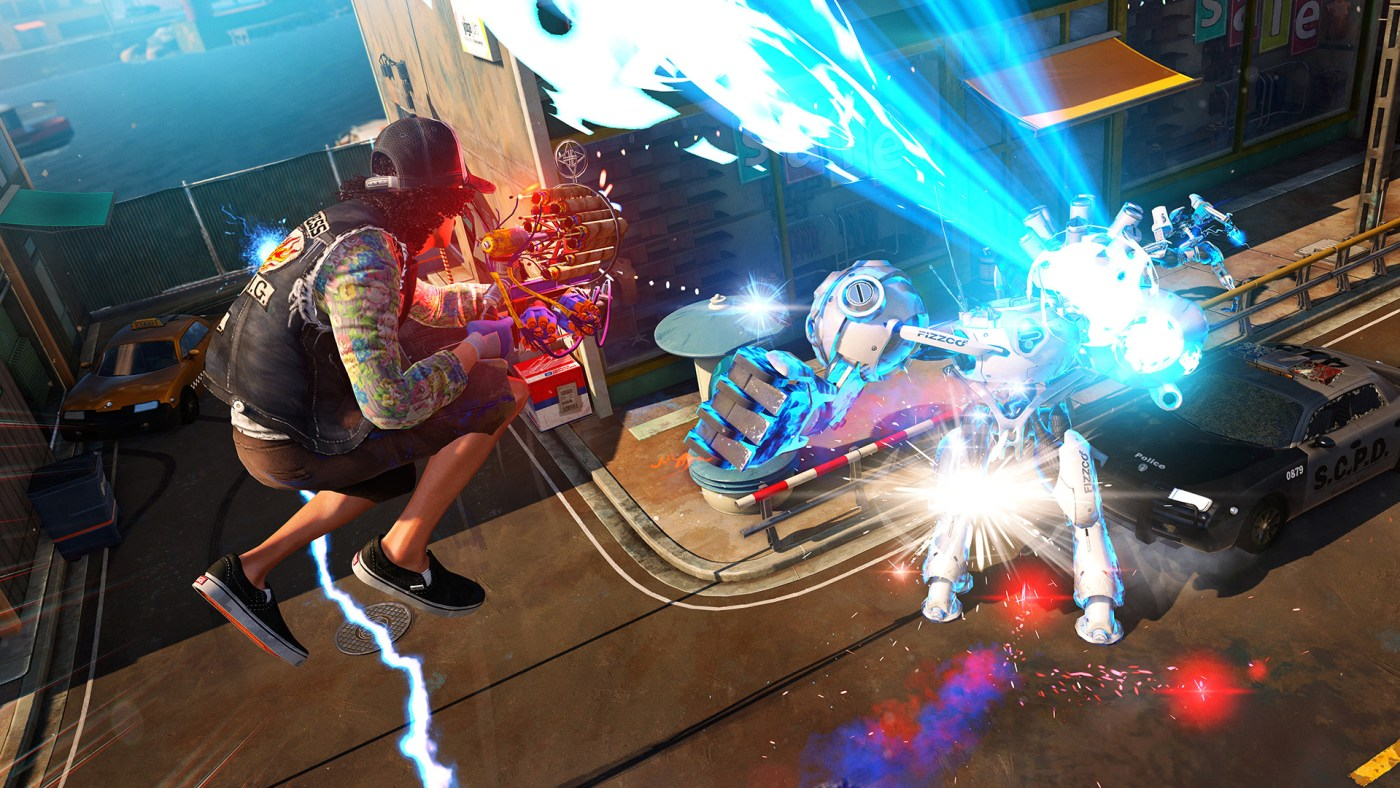 Traversal is the key to survival in Sunset Overdrive.