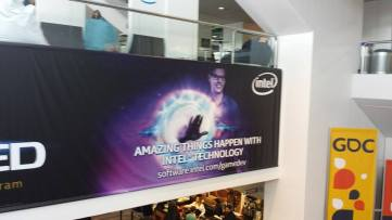 GDC 2015 Intel Sign 2