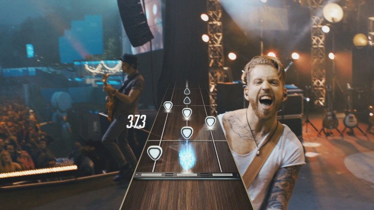 guitar hero live on stage