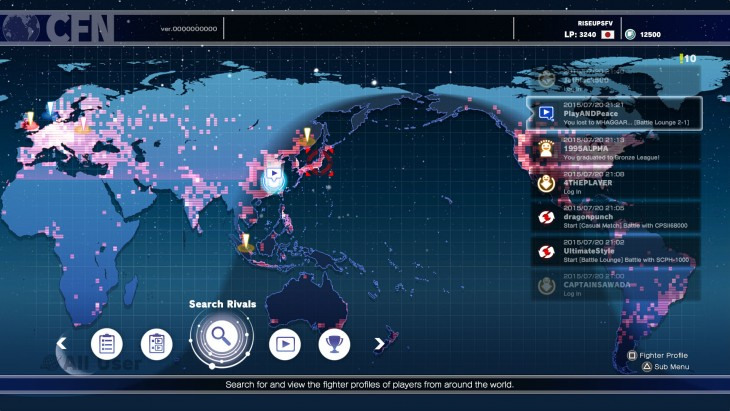 Capcom Fighters Network Heat map