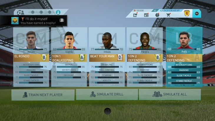 FIFA 16 Career Training (In Menus)