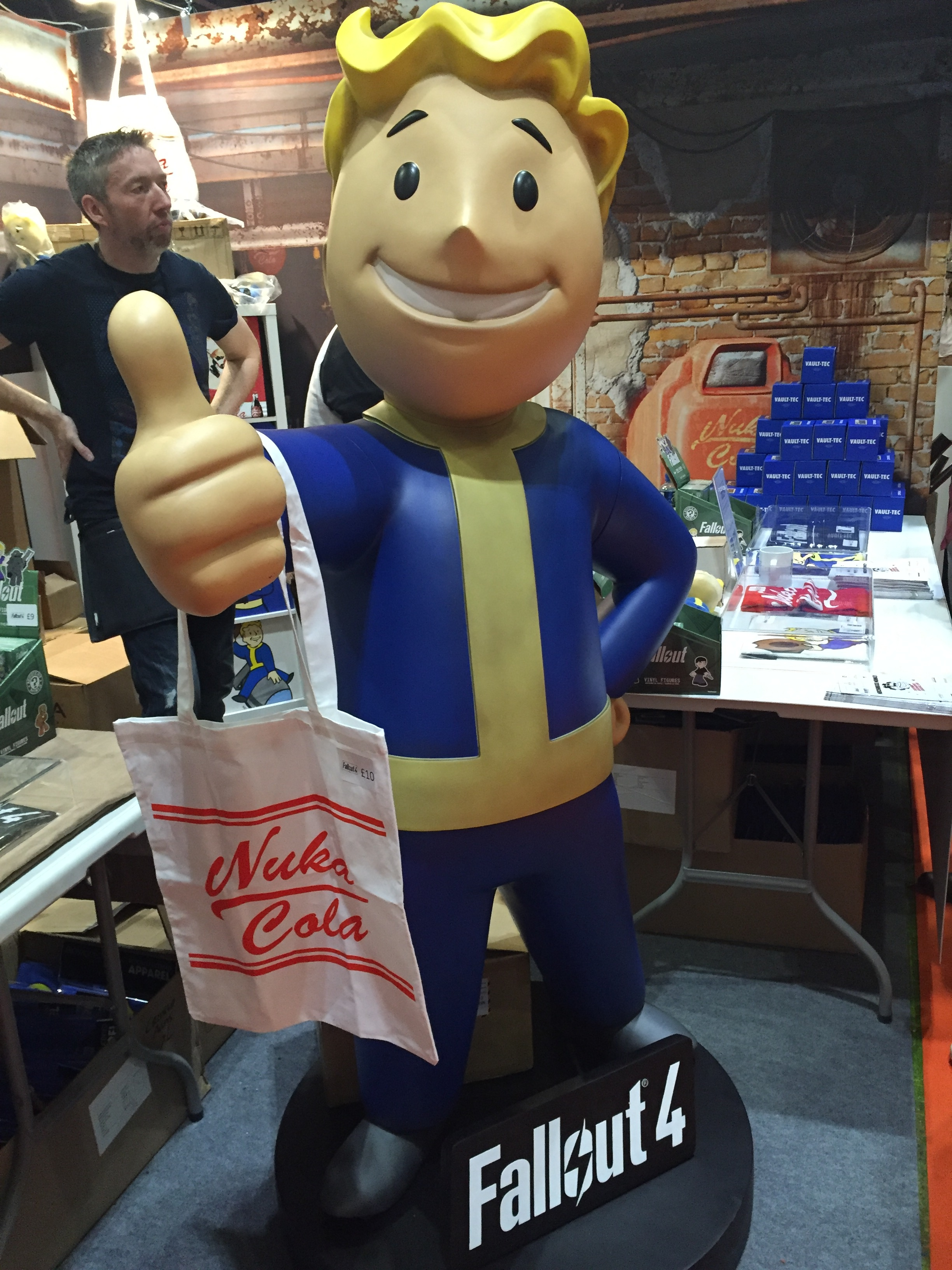 Good old Vault Boy with a bag full of Nuka Cola