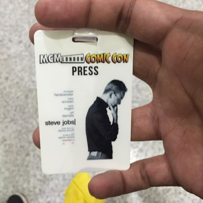 This is what our press passes looked like