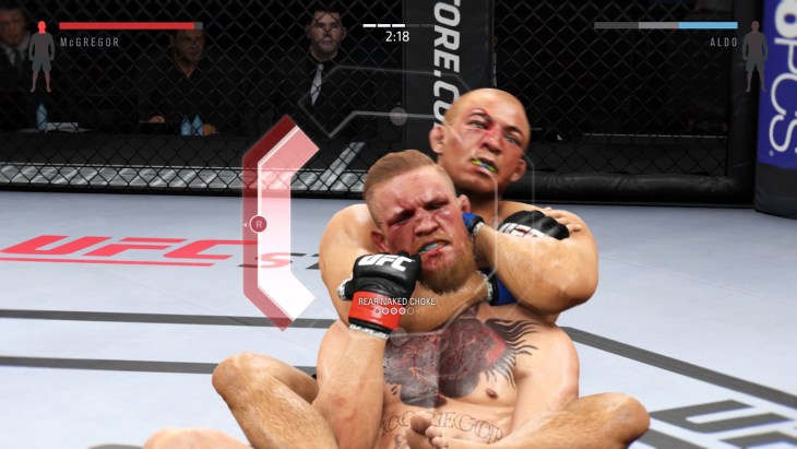EA SPORTS™ UFC® 2 Aldo choking McGregor