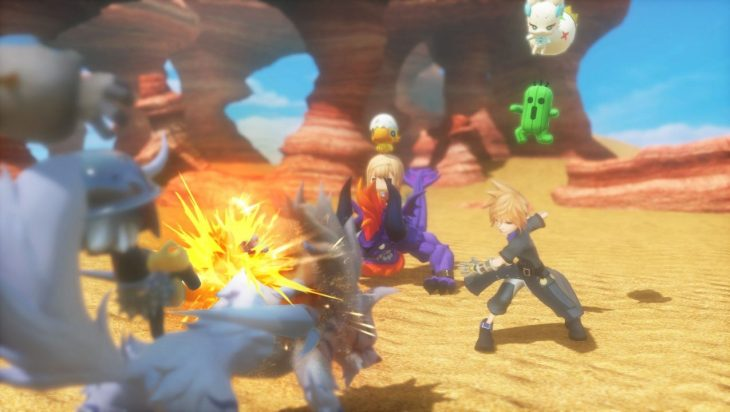 World of Final Fantasy full size battle