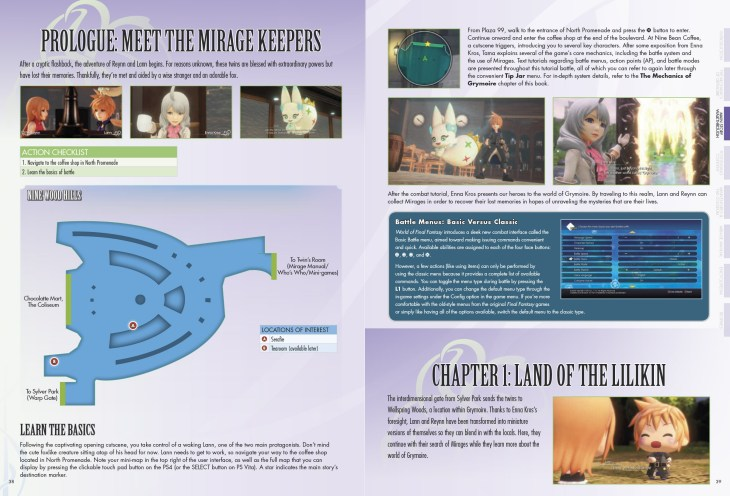 World of Final Fantasy guide spread