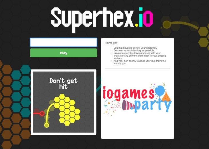Superhex.io screenshot