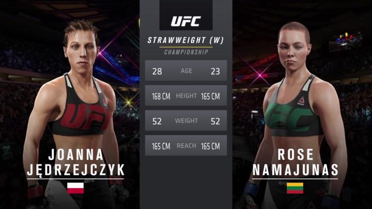 Joanna Jędrzejczyk and Rose Namajunas at UFC 217