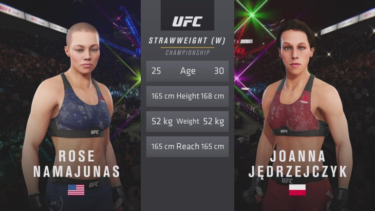 UFC 223: Namajunas vs. Jędrzejczyk – Women's Strawweight Title Match - CPU Prediction