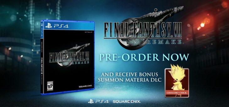 Final Fantasy VII Remake standard edition pre-order bonus