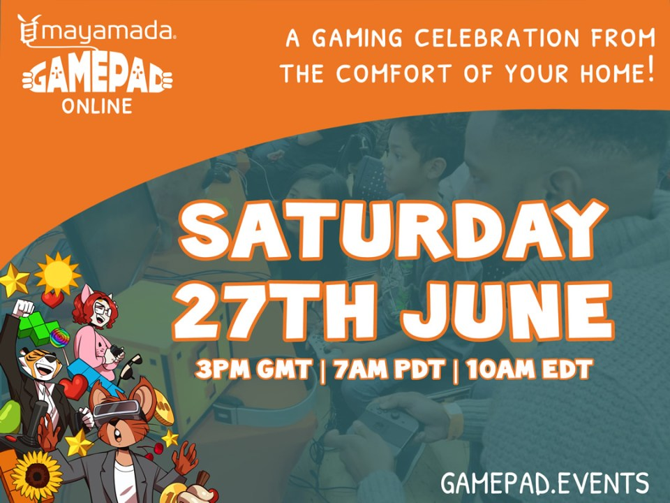 GamePad online event flyer