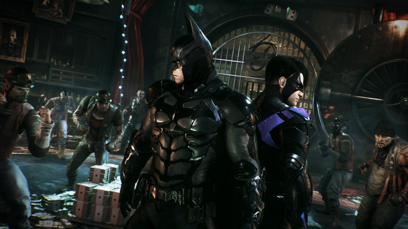 Batman and Nightwing in Arkham Night by Rocksteady Games