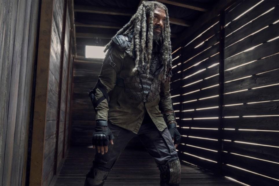 Khary Payton as Ezekiel - The Walking Dead _ Season 10 - Photo Credit: Josh Stringer/AMC