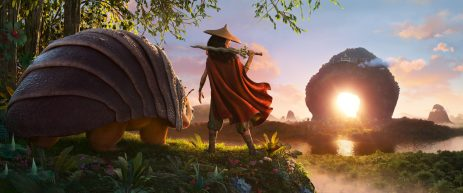 RAYA AND THE LAST DRAGON - As an evil force threatens the kingdom of Kumandra, it is up to warrior Raya, and her trusty steed Tuk Tuk, to leave their Heart Lands home and track down the last dragon to help stop the villainous Druun. © 2020 Disney. All Rights Reserved.