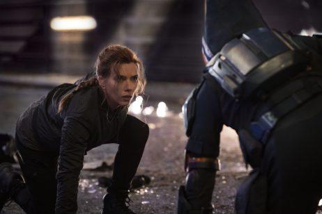(L-R): Natasha Romanoff (Scarlett Johansson) and Taskmaster