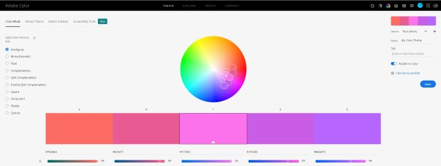 Adobe Color web
