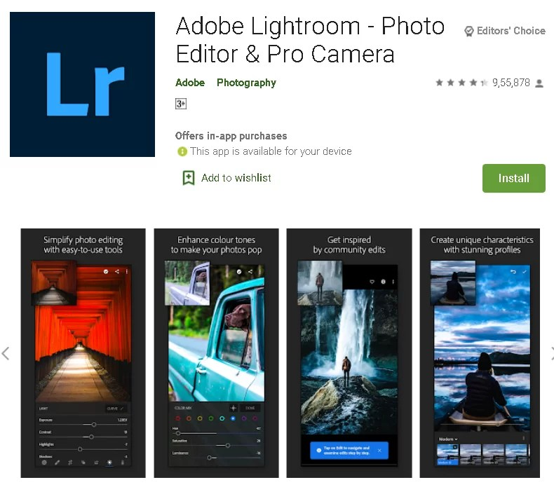 Download Adobe Lightroom for Android iOS (Free)