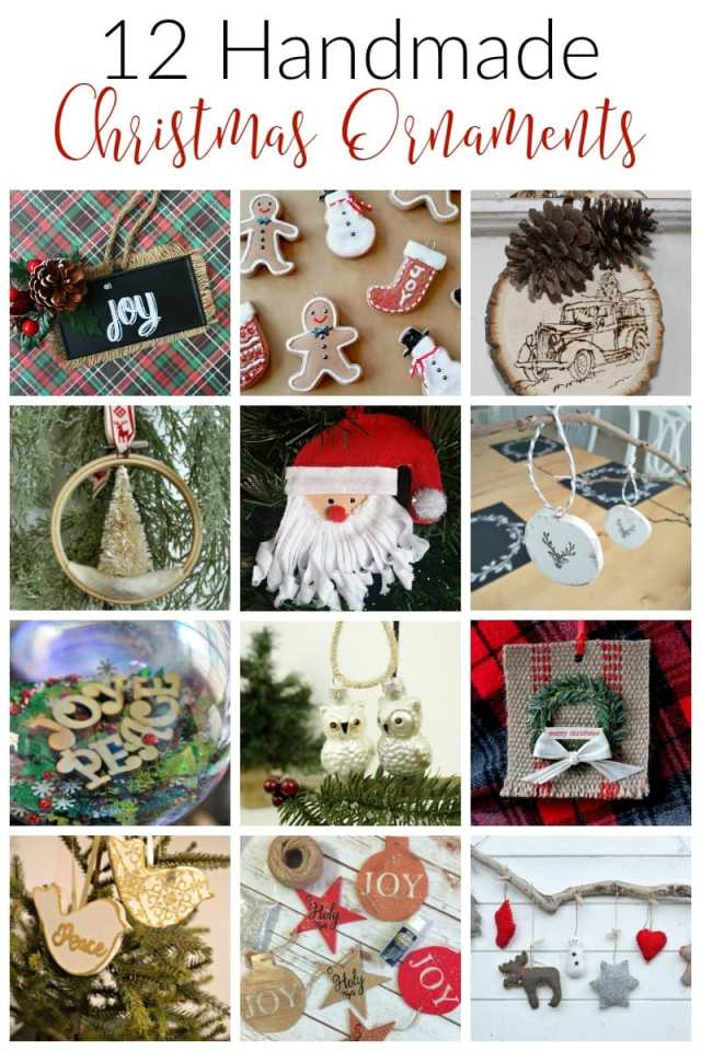 If you are looking for creative ways to decorate the tree look no further. These 12 handmade Christmas ornaments are great on your tree or as gifts!