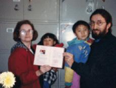 Adoption of daughter Emily in Urummqi