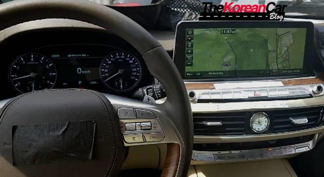 2019 kia k9 interior spied