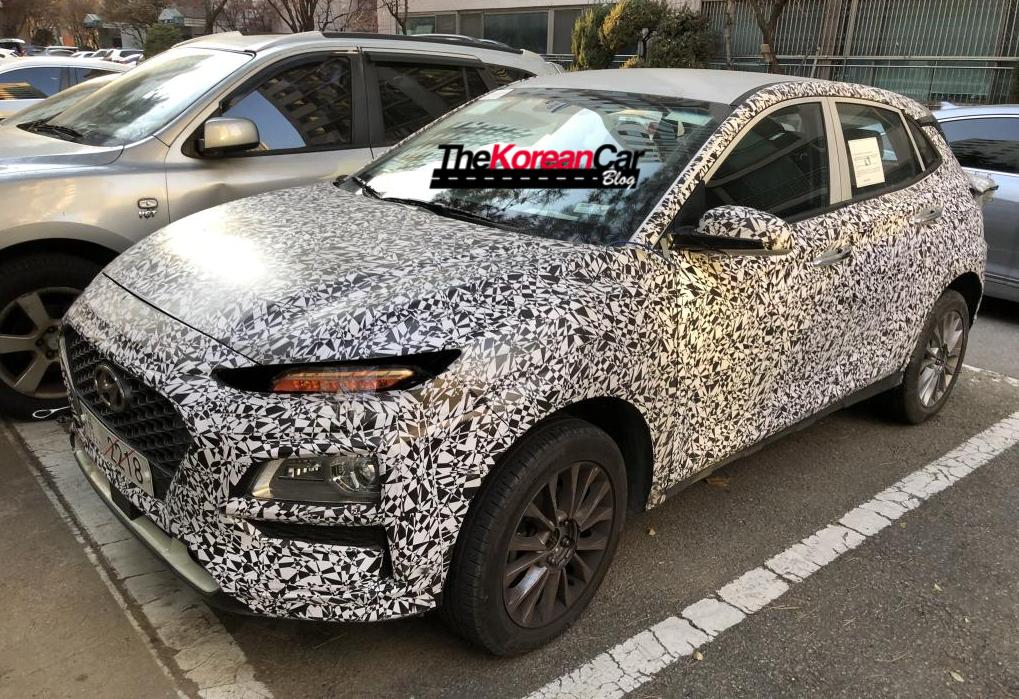 Hyundai Kona EV spied
