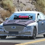 hyundai genesis spied shows front (1)