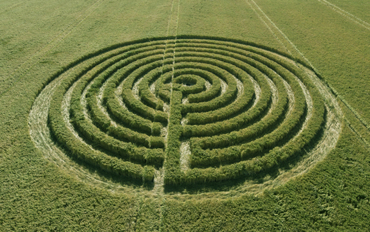 picture of a labyrinth symbolizing our journey to our authentic self