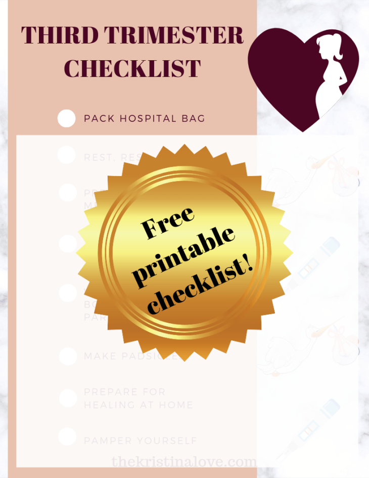 Free checklist to help you in preparing for labor.