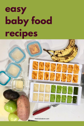 easy baby food recipes