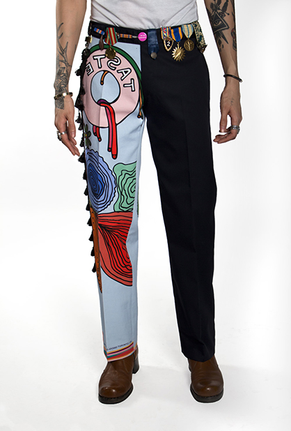 pictured front view of the 'taste' pant