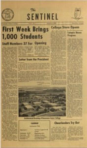 The Sentinel's first issue, published Oct. 9, 1966.