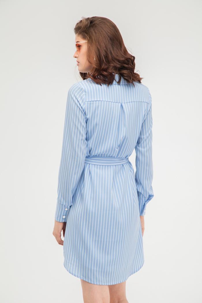 Платье-рубашка в голубую полоску - THE LACE