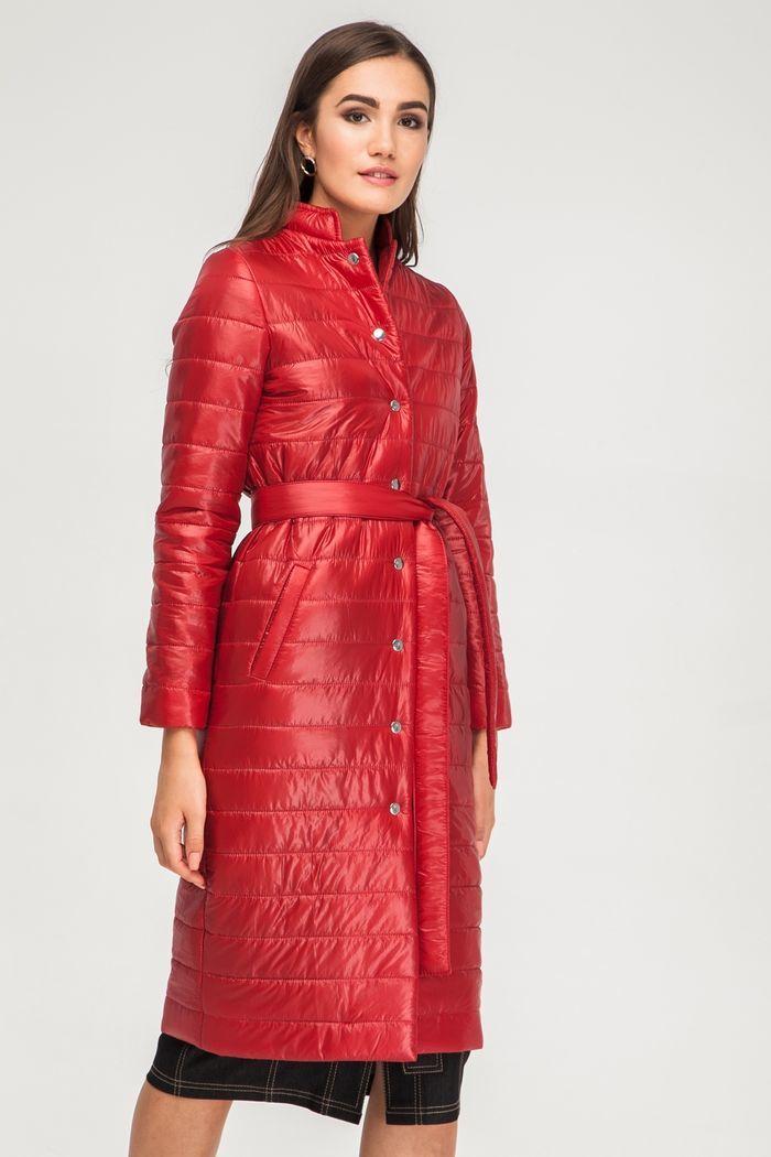Пальто стеганое бургунди - THE LACE