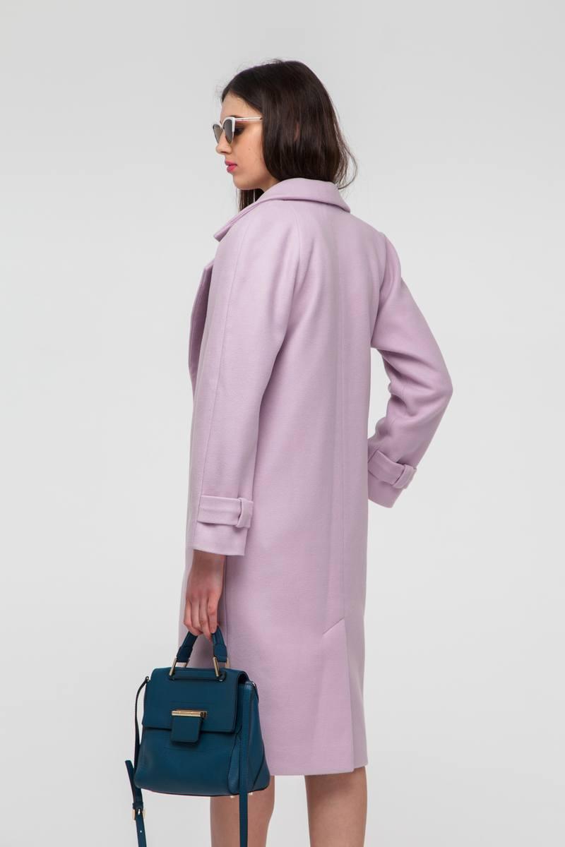 Пальто на поясе с рукавом реглан розовое - THE LACE