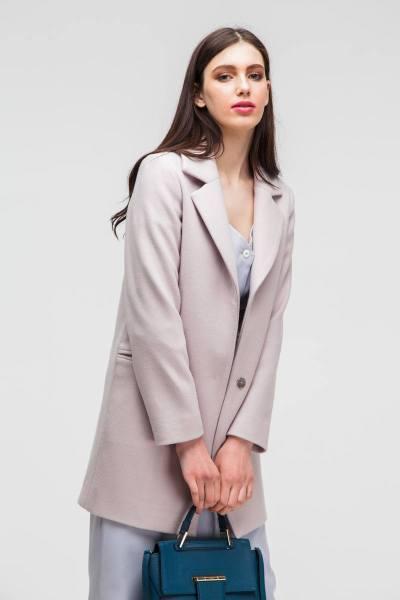 Пальто укороченное classic бежевое - THE LACE