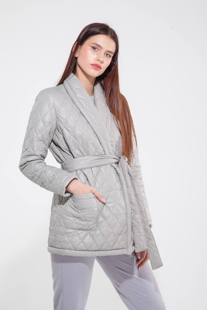 Куртка стёганая серая — THE LACE