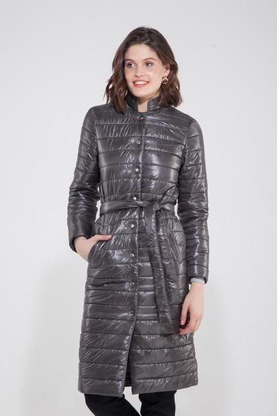 Пальто стёганое мокрый камень - THE LACE