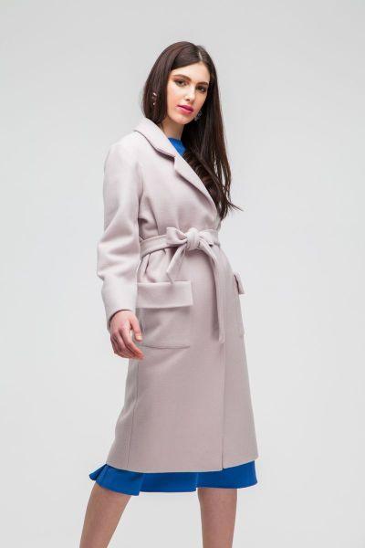 Пальто classic с накладными карманами бежевое - THE LACE