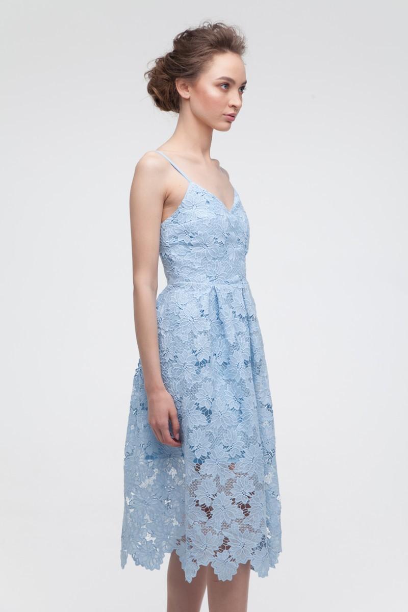 Платье кружевное голубое - THE LACE
