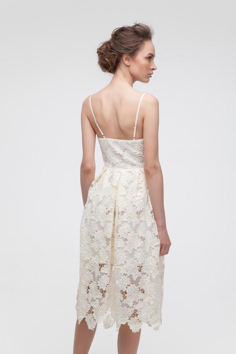 Платье кружевное лимонное - THE LACE