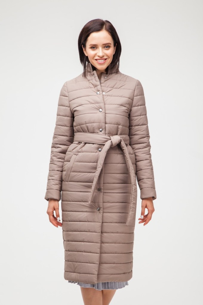 Пальто стеганое карамельное - THE LACE