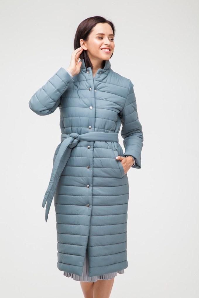Пальто стеганое нефритовое - THE LACE