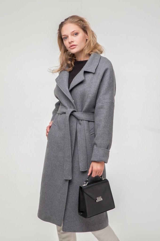 Пальто-халат шерстяное утепленное Silver - THE LACE