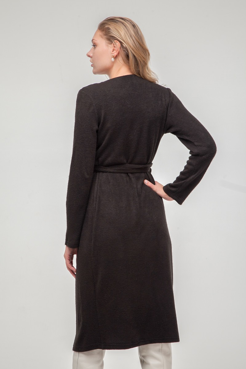 Платье из ангоры на запах черное - THE LACE