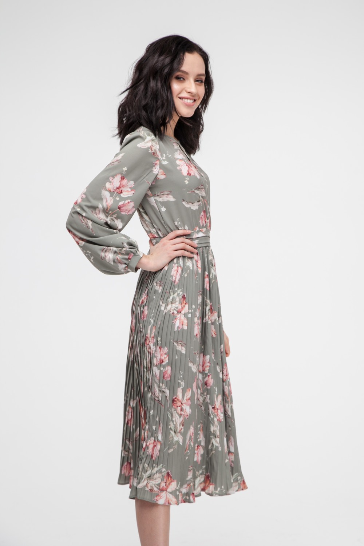 Платье миди с юбкой плиссе Lovely tulips - THE LACE